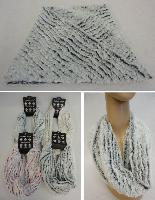 Plush Infinity Scarf [Stripe Pattern]